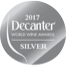 Logo medaglia d'argento Decanter World Wine Awards 2017